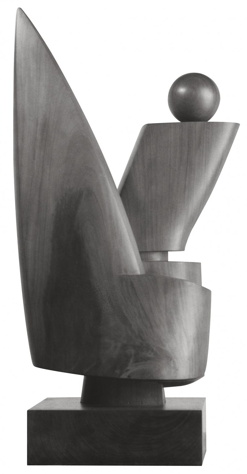 Jean Chauvin - Sculpteur - Amazone ou Feu Sacré - Bois de Péroba - 1940