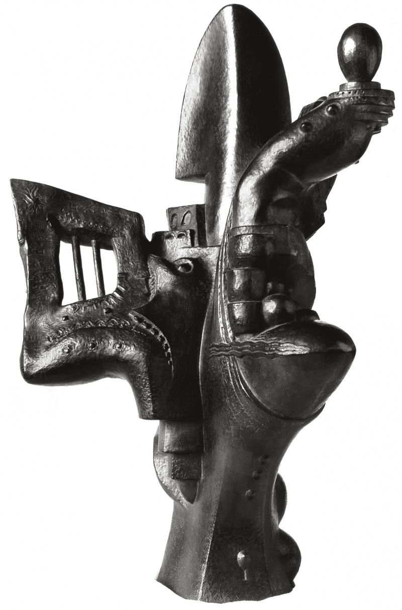 Jean Chauvin - Sculpteur - Porteuse de Lyre - bronze - 1944